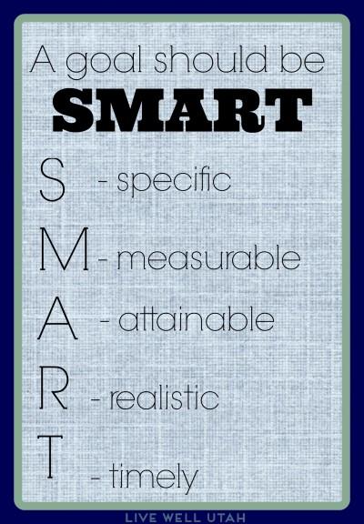 Smart ways to set goals - LiveWellUtah.org #weightloss #quote #smart #life